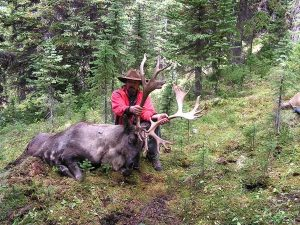 Stewart with Mountain Caribou